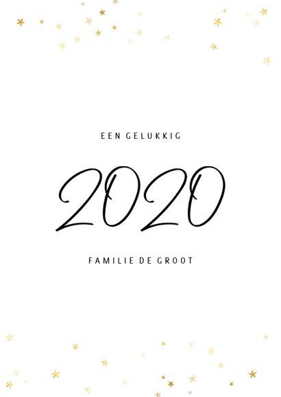 Nieuwjaarskaart fotocollage 2020 met gouden sterren 3