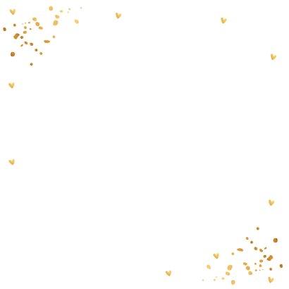 Nieuwjaarskaart fotocollage goud confetti 2