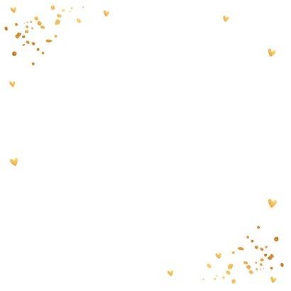 Nieuwjaarskaart fotocollage goudlook confetti 2