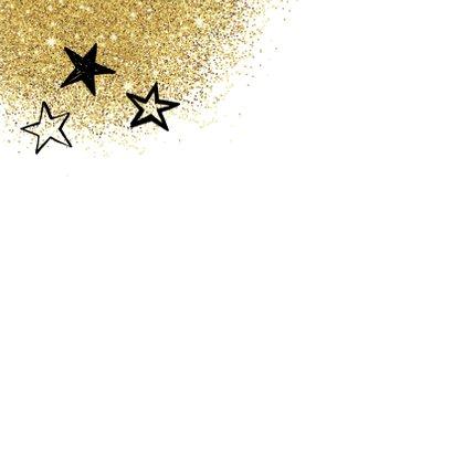 Nieuwjaarskaart glitter en tekst 2