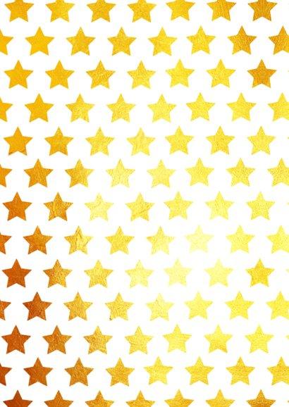 Nieuwjaarskaart goud sterren wit 2