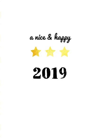 Nieuwjaarskaart goud sterren wit 3