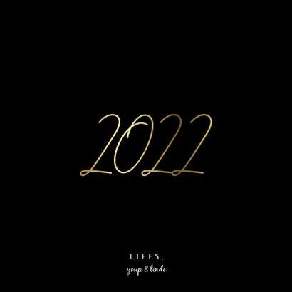 Nieuwjaarskaart gouden 2022 met 2 foto's 3