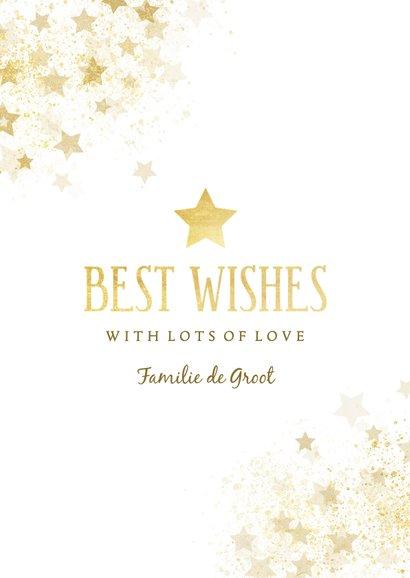 Nieuwjaarskaart gouden ster stijlvol 3
