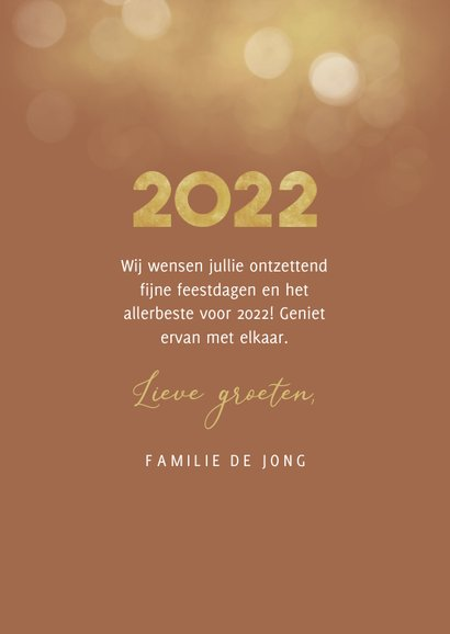 Nieuwjaarskaart goudlook collage aanpasbaar 2022 3