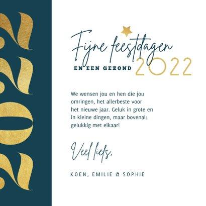Nieuwjaarskaart grafisch modern goud foto 2022 liefde 3