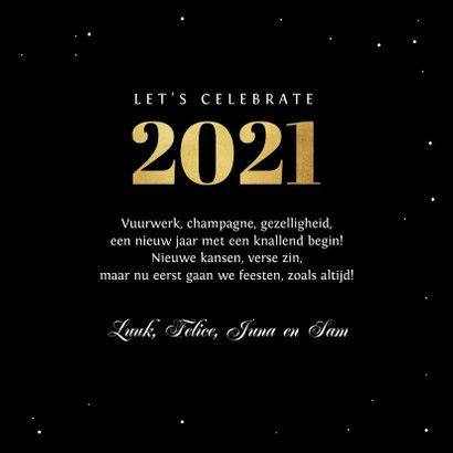 Nieuwjaarskaart happy new year fijne feestdagen vuurwerk 3