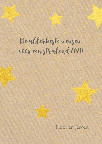 Nieuwjaarskaart happy new year gold 2021 3