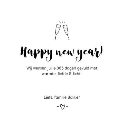 Nieuwjaarskaart - Happy new year handlettering 3
