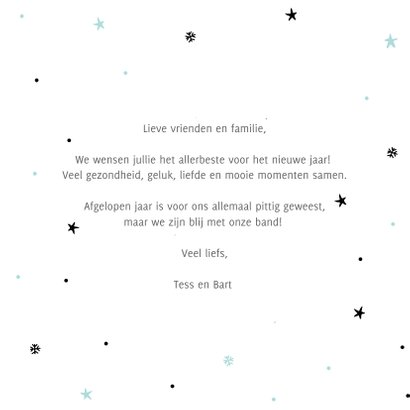 Nieuwjaarskaart - happy new year, lets make it a good one 3
