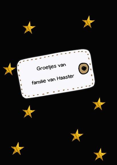 Nieuwjaarskaart Happy new year with stars 2