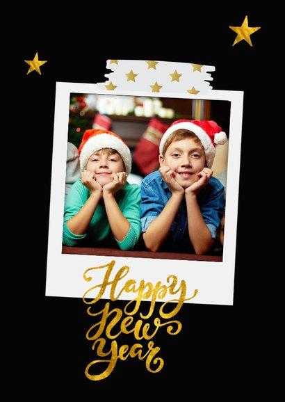 Nieuwjaarskaart Happy new year with stars 3