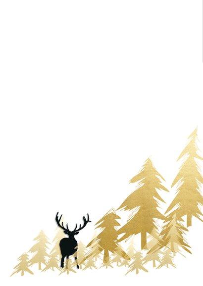 Nieuwjaarskaart herten bomen fotolijst 2