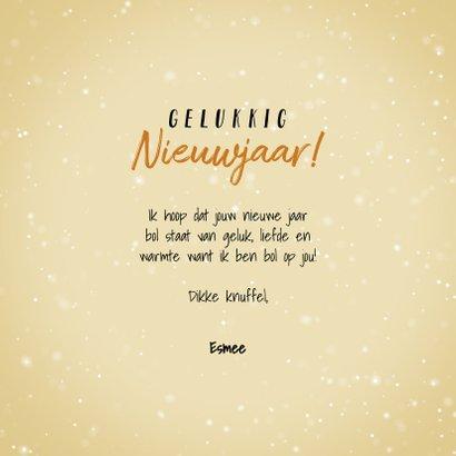 Nieuwjaarskaart 'ik ben bol op jou' met lieve oliebol 3