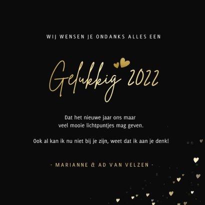 Nieuwjaarskaart - ik wens je veel lichtpuntjes in 2022 3