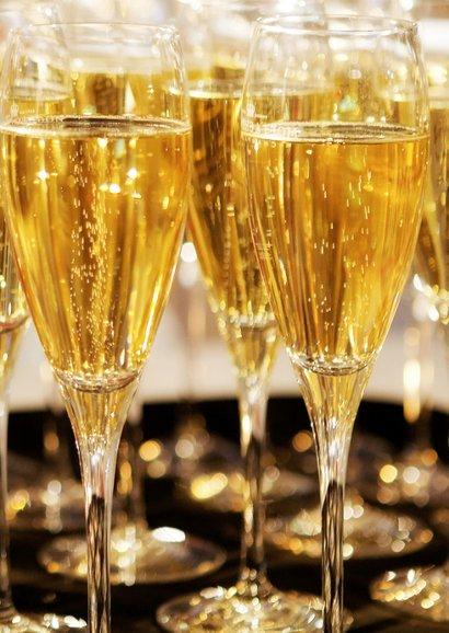 Nieuwjaarskaart Keep Calm and Drink Champagne 2