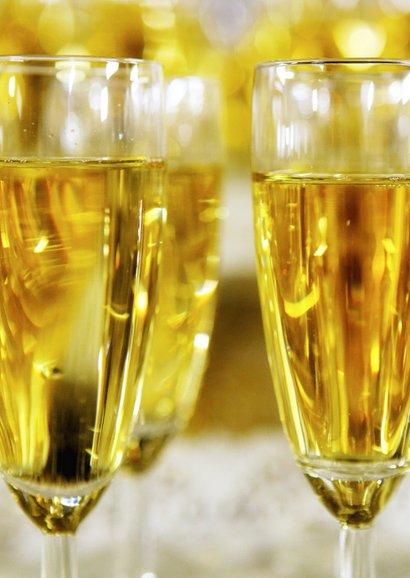 Nieuwjaarskaart Keep Calm Drink Champagne 2