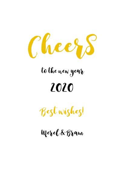 Nieuwjaarskaart Keep Calm Drink Champagne 3