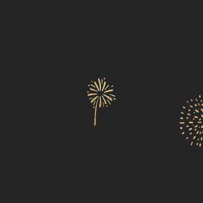 Nieuwjaarskaart lichtpuntjes 2021 vuurwerk Achterkant