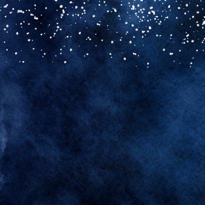 Nieuwjaarskaart lichtpuntjes sterren hartjes waterverf Achterkant
