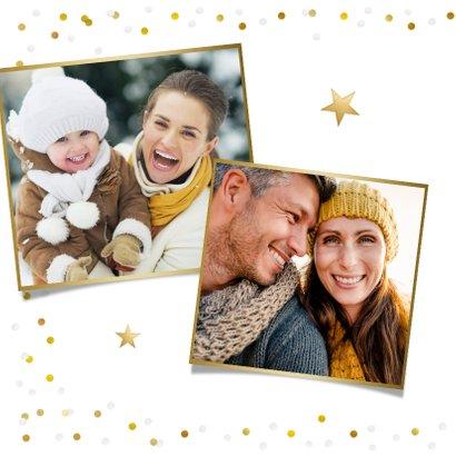 Nieuwjaarskaart met eigen foto, gouden 2021 en confetti 2