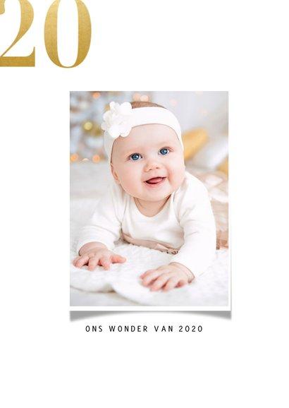 Nieuwjaarskaart met fotocollage en gouden 2021 2
