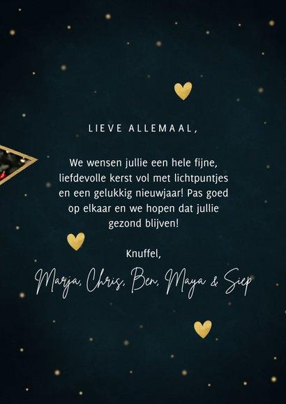 Nieuwjaarskaart met foto's in sterren liefde en licht 3