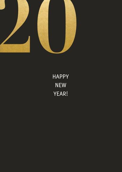 Nieuwjaarskaart met grote foto en gouden 2021 2