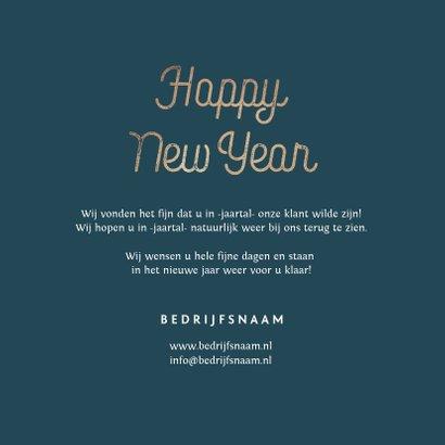 Nieuwjaarskaart nieuwjaarsborrel goudlook confetti zakelijk 3