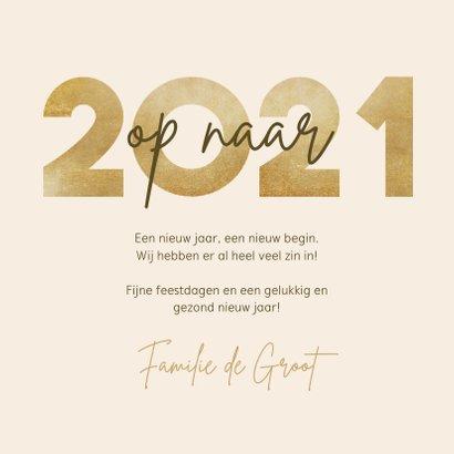 Nieuwjaarskaart op naar 2021 fotocollage met vuurwerk 3
