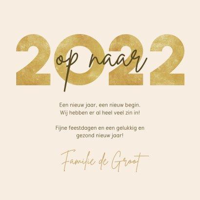 Nieuwjaarskaart op naar 2022 fotocollage met vuurwerk 3