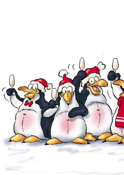 Nieuwjaarskaart Penguins Borrel  2