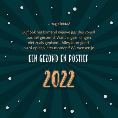 Nieuwjaarskaart positief negatief 2021 - 2022 3