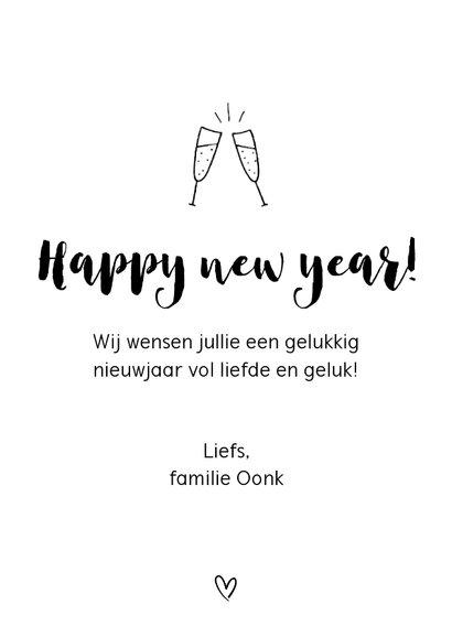Nieuwjaarskaart - Proost op een geweldig nieuwjaar! 3