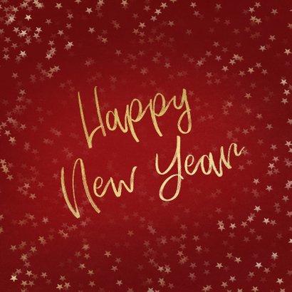 Nieuwjaarskaart rood en goud 2