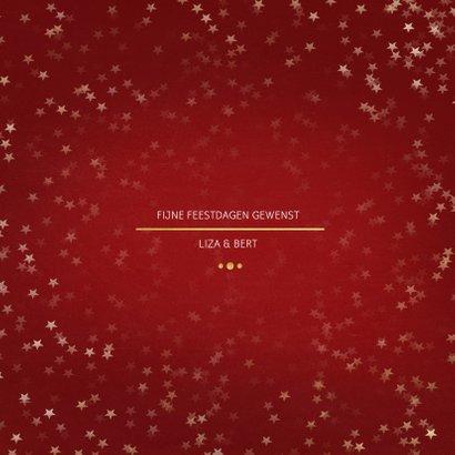 Nieuwjaarskaart rood en goud 3