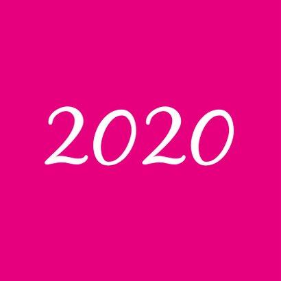 Nieuwjaarskaart schitterend sprankelend 2020 zwart magenta 2