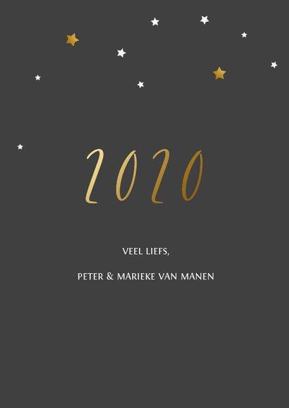 Nieuwjaarskaart ster foto 2020 3