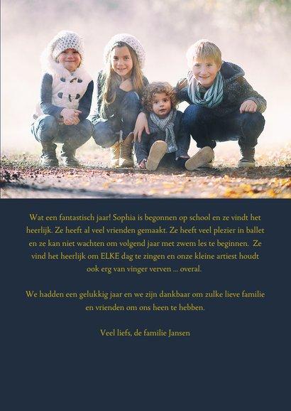 Nieuwjaarskaart Sterren foto familie 3