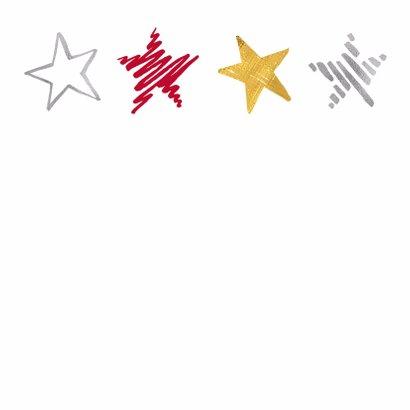 Nieuwjaarskaart sterren op rij 2