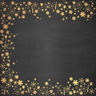 Nieuwjaarskaart stijlvolle feestelijke kaart krijtbord goud 2