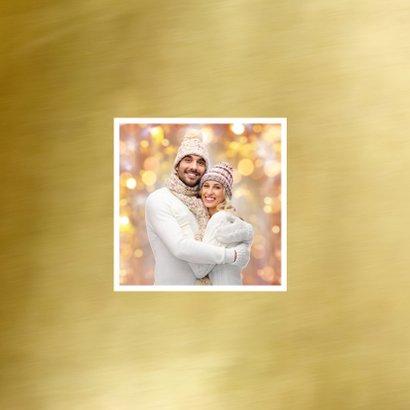 Nieuwjaarskaart trendy fotocollage  goud 2