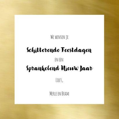 Nieuwjaarskaart trendy fotocollage  goud 3