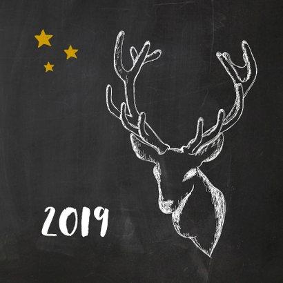 Nieuwjaarskaart trendy krijt 2019 2