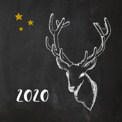Nieuwjaarskaart trendy krijt 2020 2