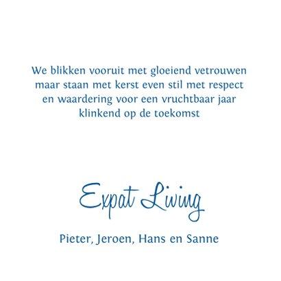 Nieuwjaarskaart  typografie blauw design 3