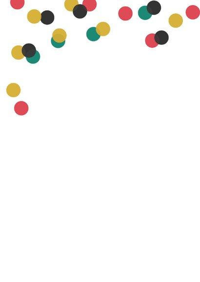 Nieuwjaarskaart typografie internationaal confetti 2