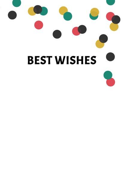 Nieuwjaarskaart typografie internationaal confetti 3