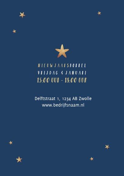 Nieuwjaarskaart typografisch kerstboom sterren 2