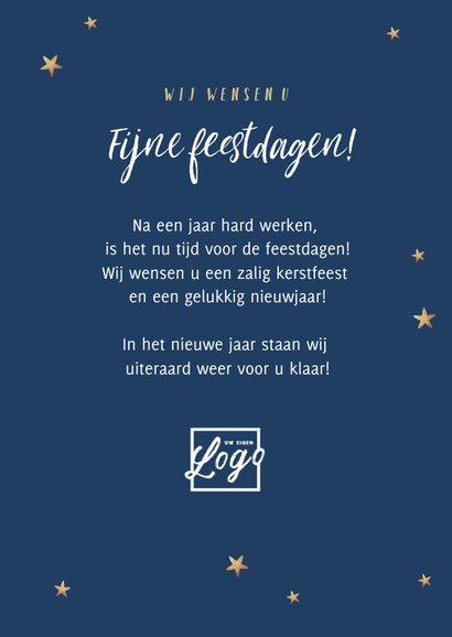 Nieuwjaarskaart typografisch kerstboom sterren 3